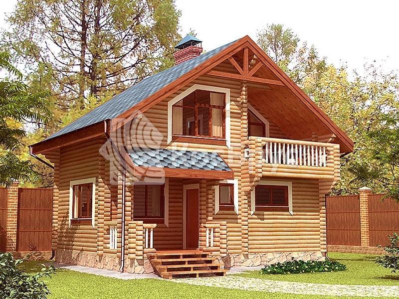 Проект дачного дома с баней 5.5 х 7.5 м «Минерва»