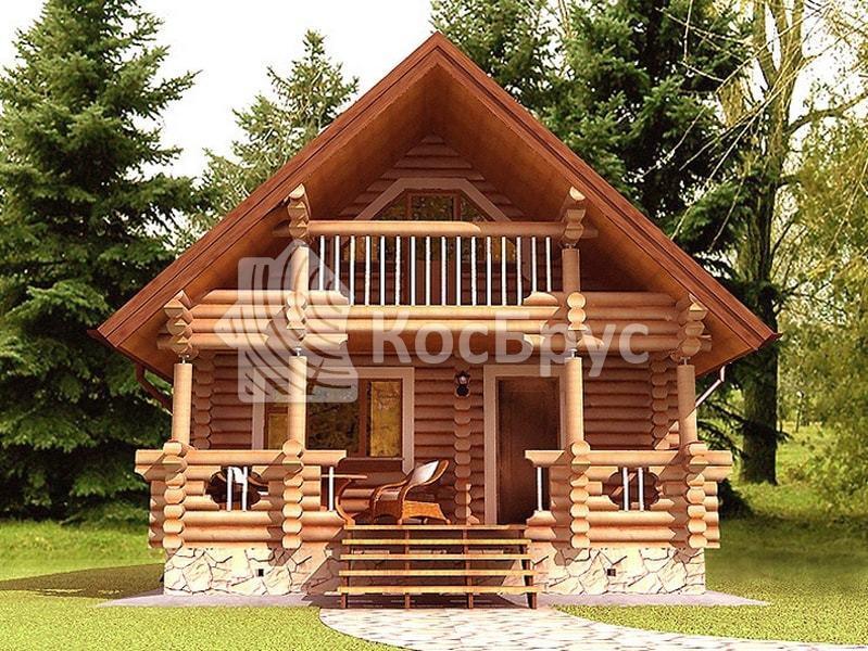 Проект дачного дома с баней 6.2 х 7.8 м «Лидия»