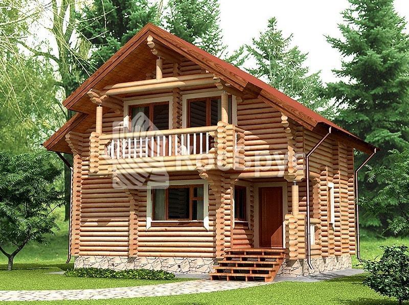 Проект дома с баней внутр 5.4 х 8.0 м «Селена»