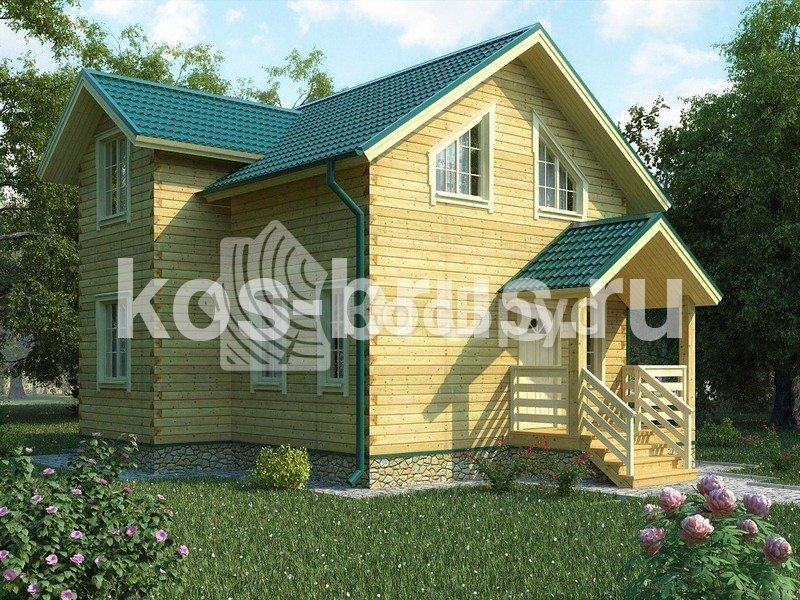 Проект дома из бруса 7.5х8.0 м «Россини»