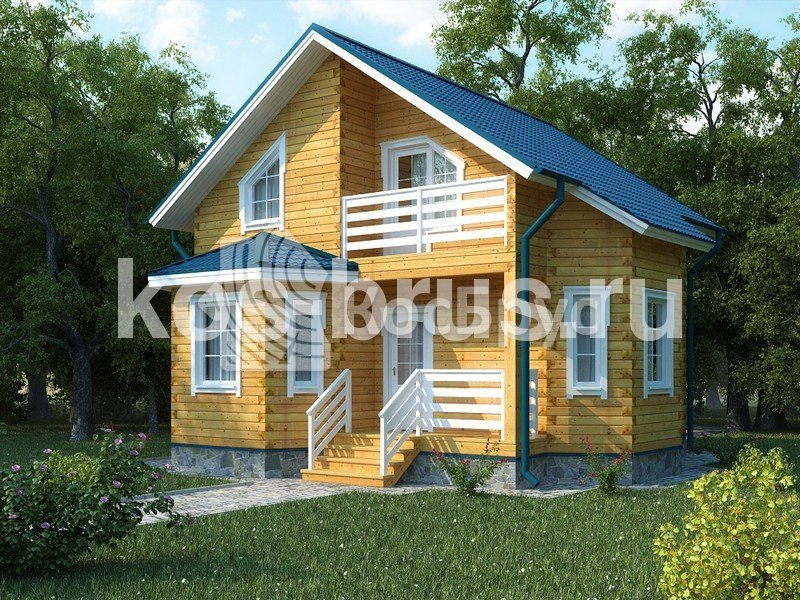 Проект дома из бруса 8.0х8.0 м «Моцарт»