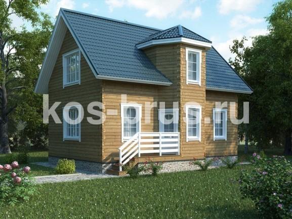 Проект дома из бруса 8.0х9.0 м «Паганини»