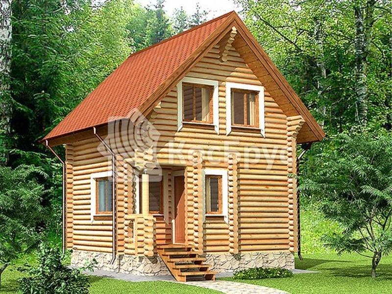 Проект небольшого дома с баней 5.4 х 5.4 м «Изида»