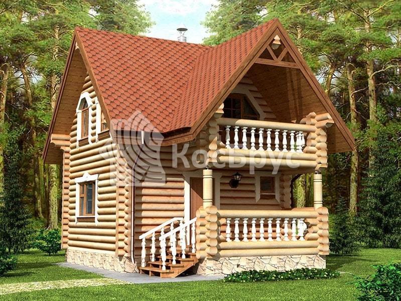 Проект загородного дома с баней 5.4 х 5.4 м «Калипса»