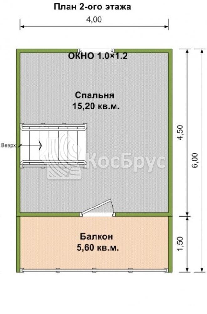 Проект бани с террасой и балконом 6.0х6.0 м