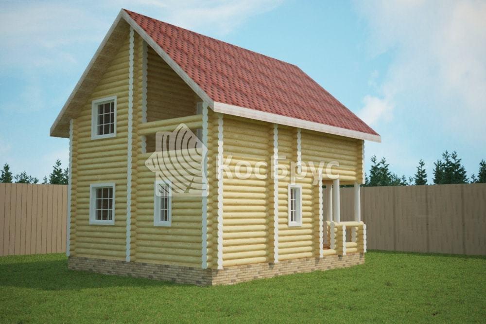 Проект дома 6.5х8.0 м
