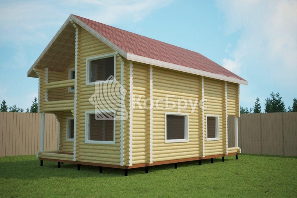 Проект дома 7.0х11.5 м