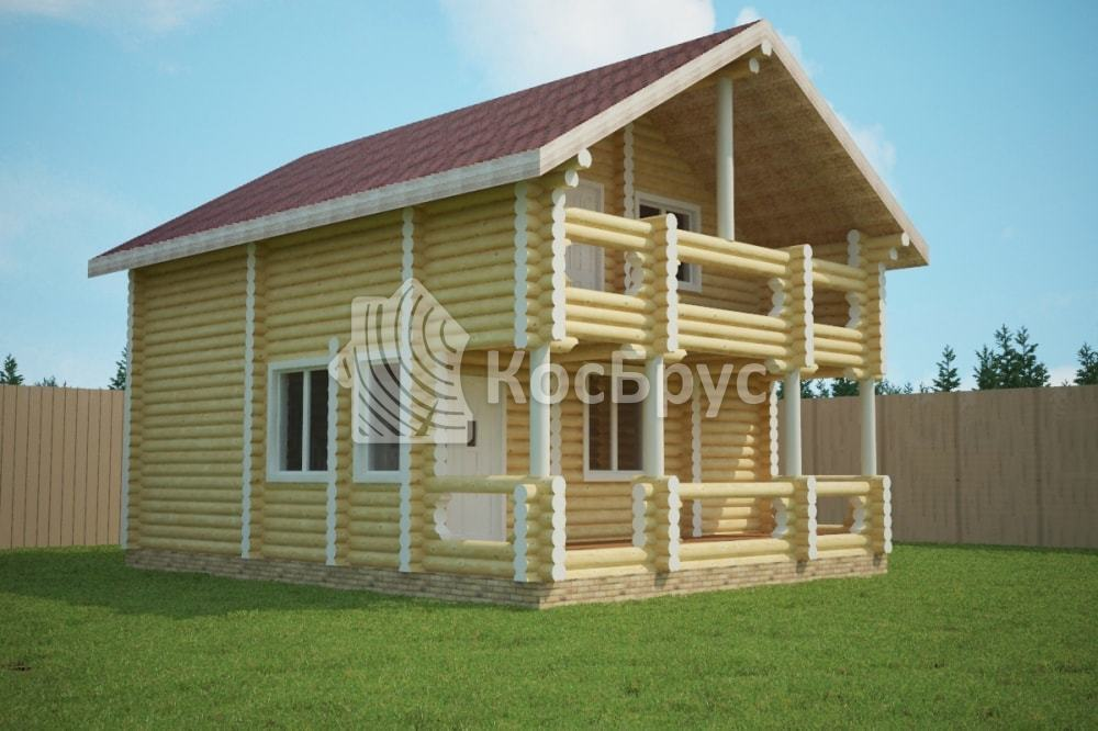Проект дома 7.0х9.0 м «Мосальск»