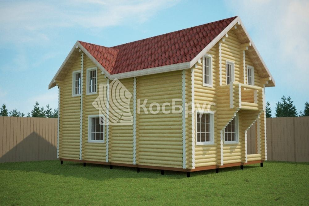 Проект дома 7.3х10.5 м