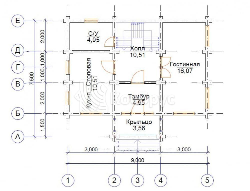 Проект дома 6.0х9.0 м