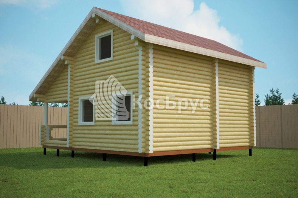 Проект дома 7.6х8.4 м