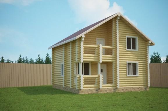 Проект дома 8.0х8.0 м «Маклаково»