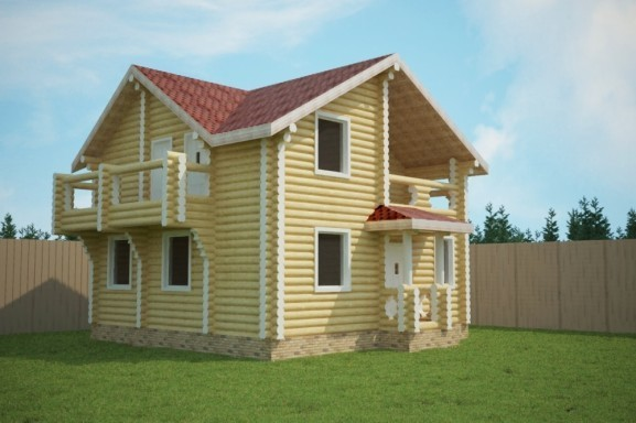Проект дома 8.0х8.0 м «Юрьев-Польский»
