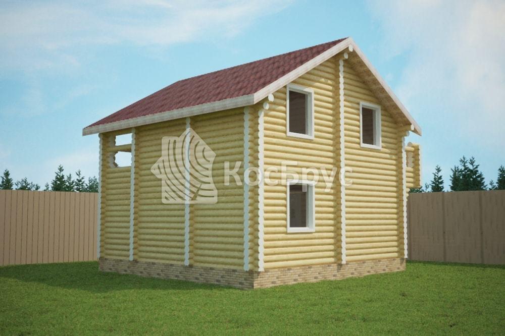 Проект дома 8.0х8.0 м