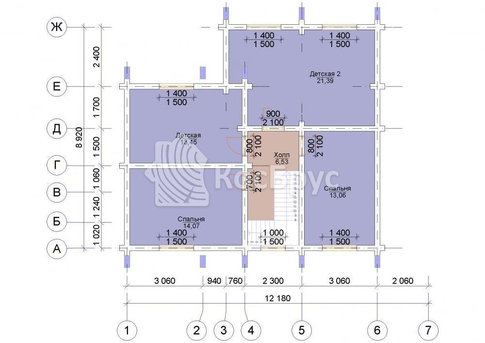 Проект дома 9.0х10.0 м