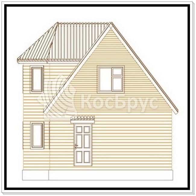 Проект дома из бруса 6.0х9.0 м