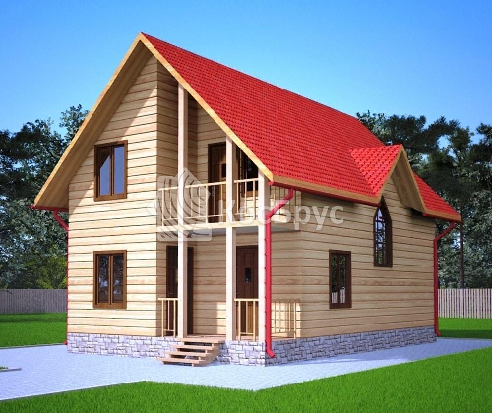 Проект дома из бруса 6.0х9.5 м «Юрьевец»