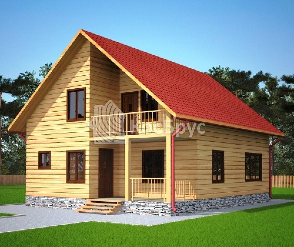Проект дома из бруса 8.0х10.0 м «Углич»