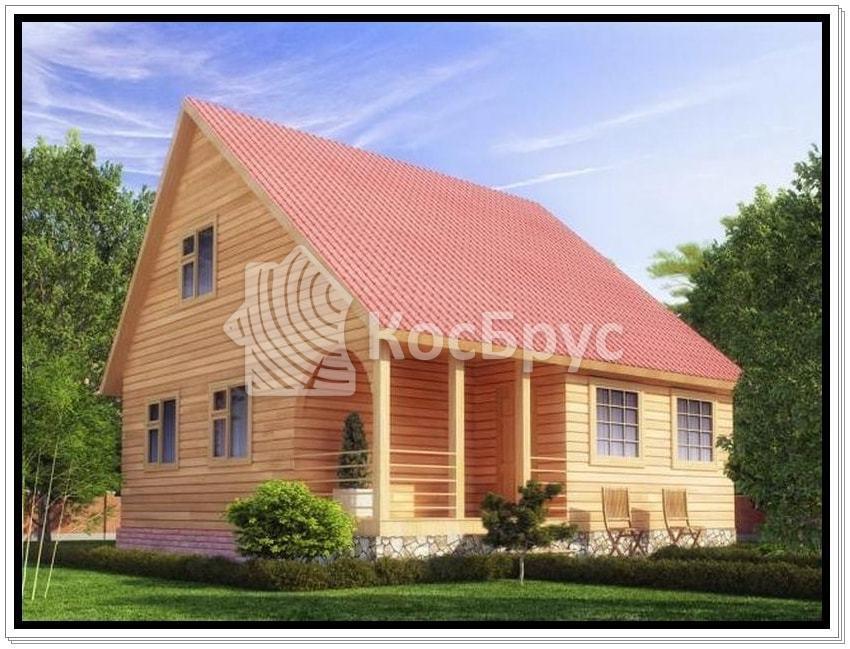 Проект дома из бруса 8.0х8.0 м «Рахманинов»