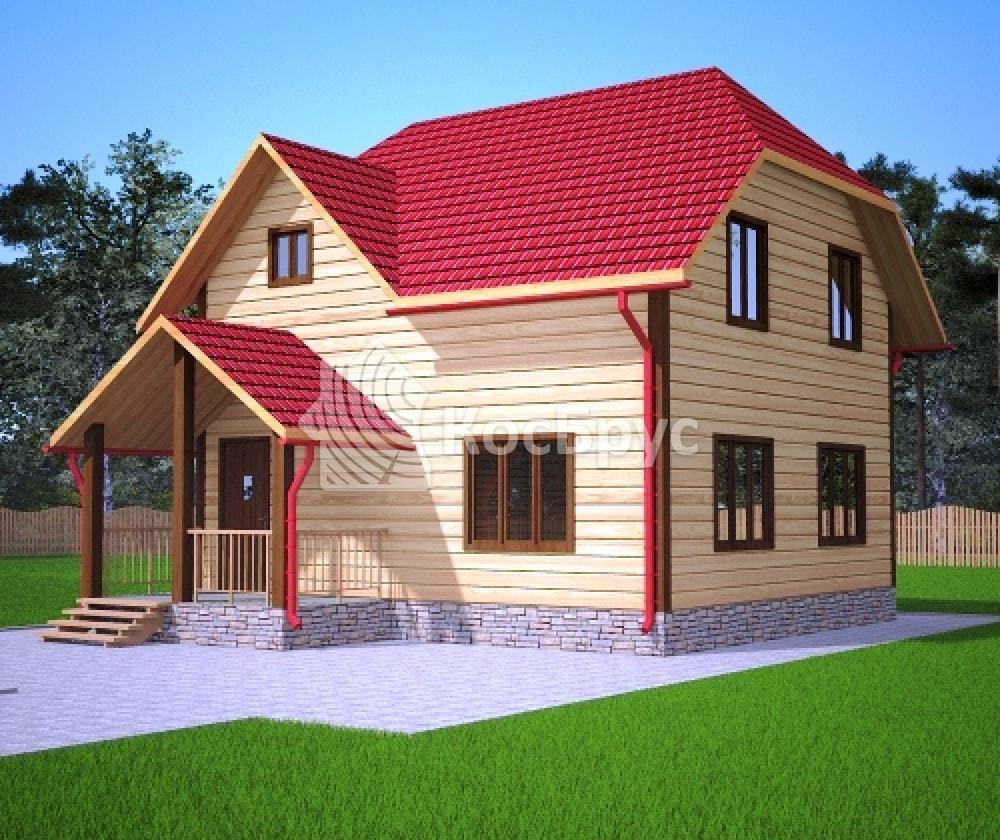 Проект дома в полтора этажа с крыльцом 7.0х7.5 м «Шуя»