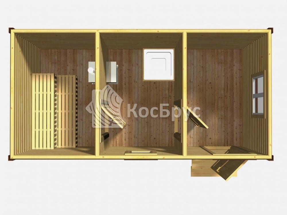 Проект русской бани 3.0х6.0 м