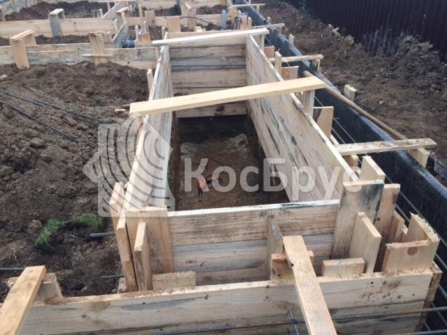 Изготовление ленточного фундамента под баню из бруса