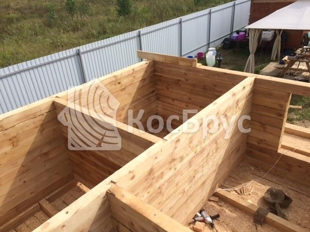 Строительство бани из бруса 150х150 мм «под усадку». пос. Ясные Зори, Ступинского района МО. Июнь 2016 года