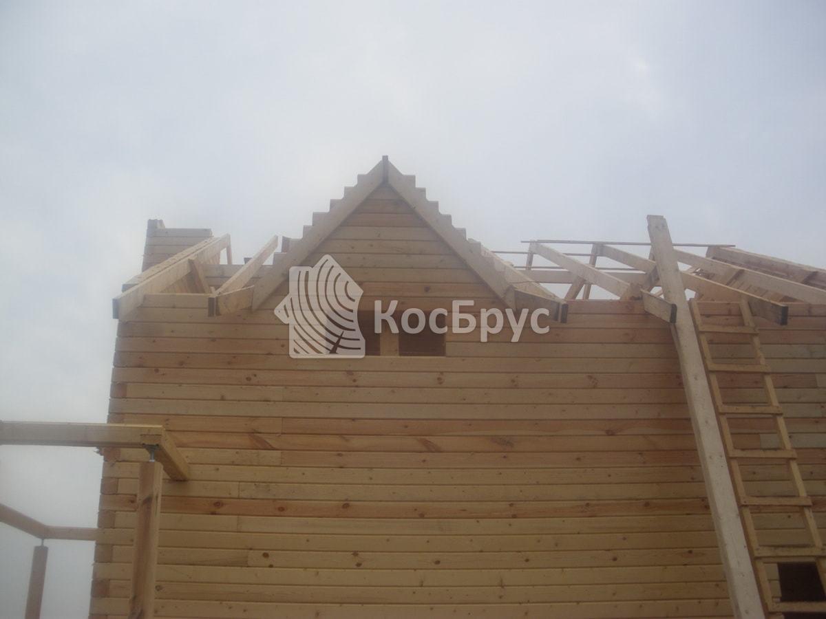 Строительство дома из бруса, Тульская область, Ясногорский район, МО Иваньковское, декабрь 2015 года