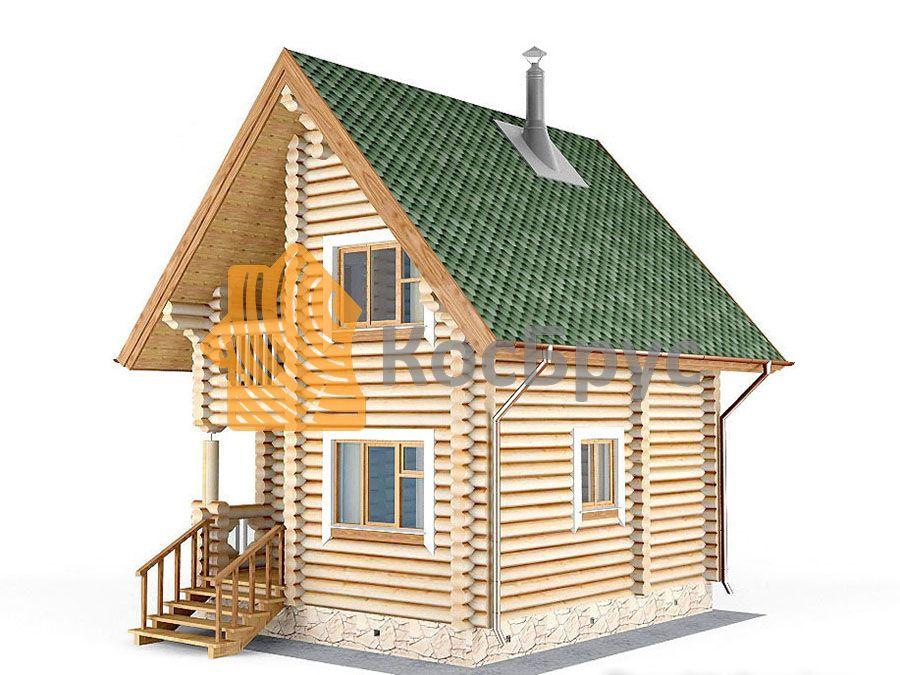 Проект дома с баней 5.0х6.0 м 1.5 эт 47 м.кв
