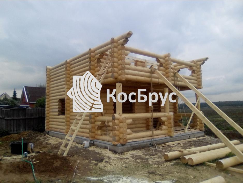 Дом с баней из ОЦБ 240 мм, МО, Домодедовский р-н, д. Котляково, май 2017