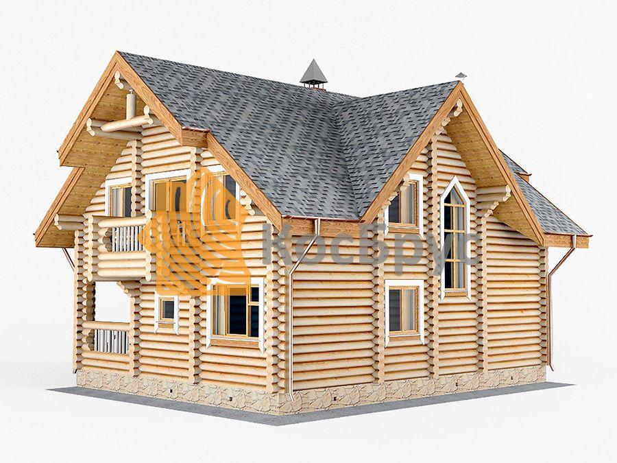 Проект дома с баней 9.0х11.4 м 1.5 эт