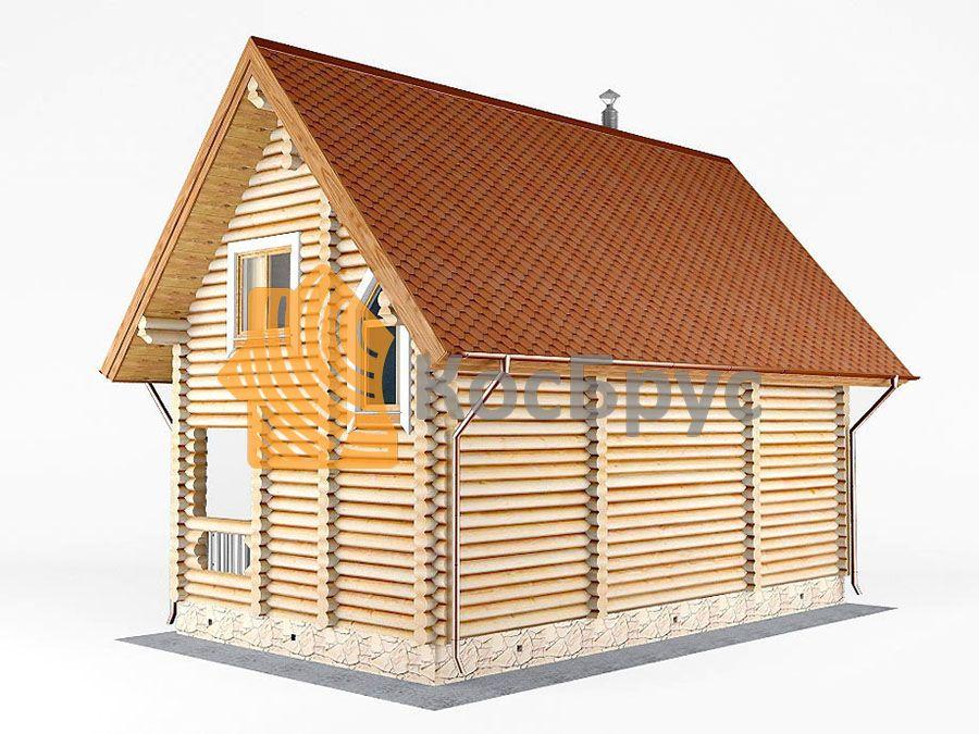 Проект дома с баней 7.0х8.4 м 1.5 эт