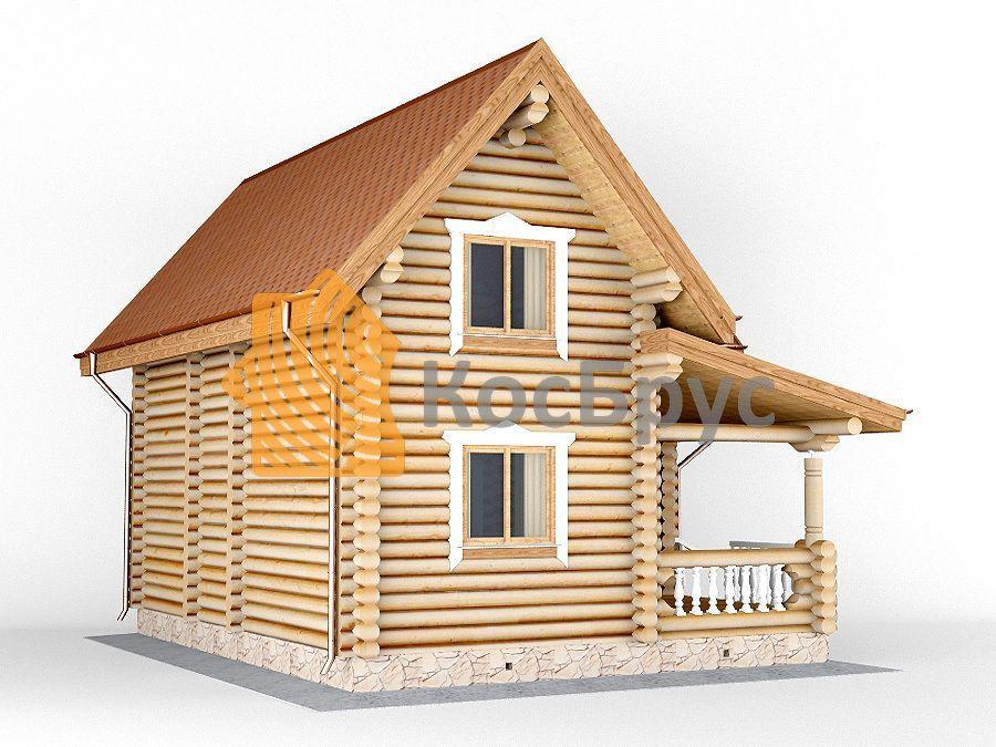 Проект дома с баней 7.0х9.0 м 1.5 эт
