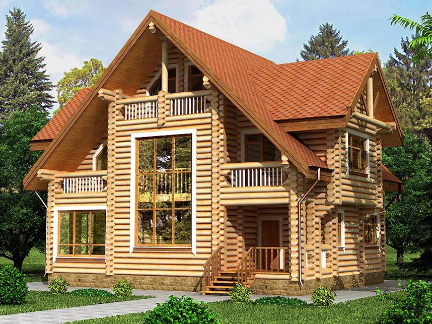 Проект дома с баней 9.5х12.4 м 1.5 эт