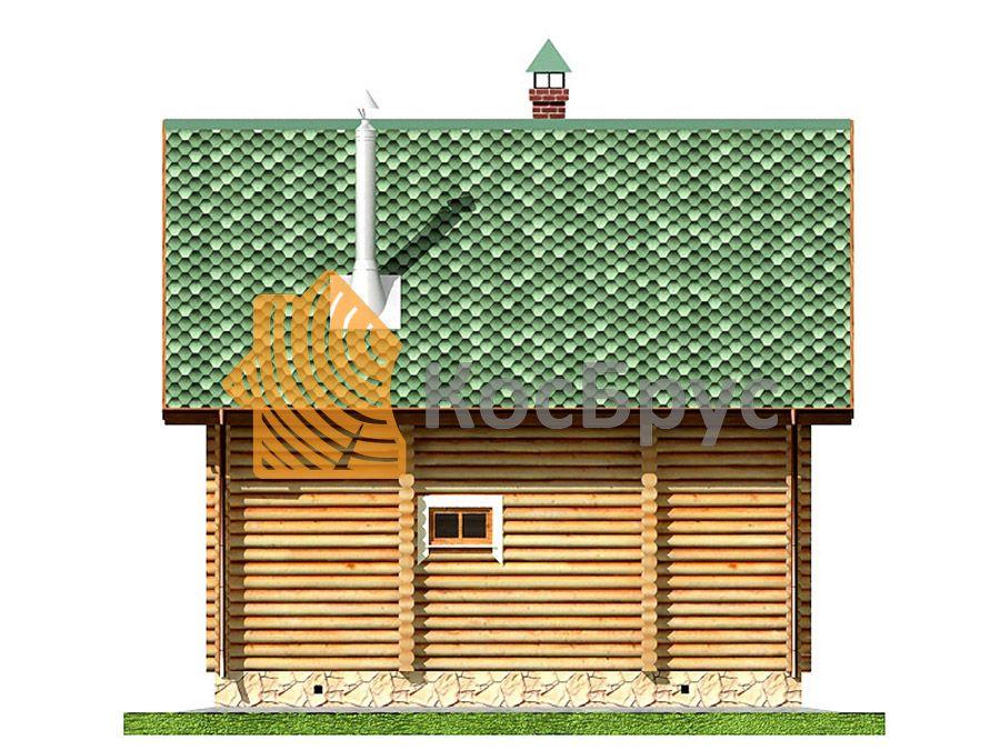 Проект дома с баней 7.0х8.7 м 1.5 эт