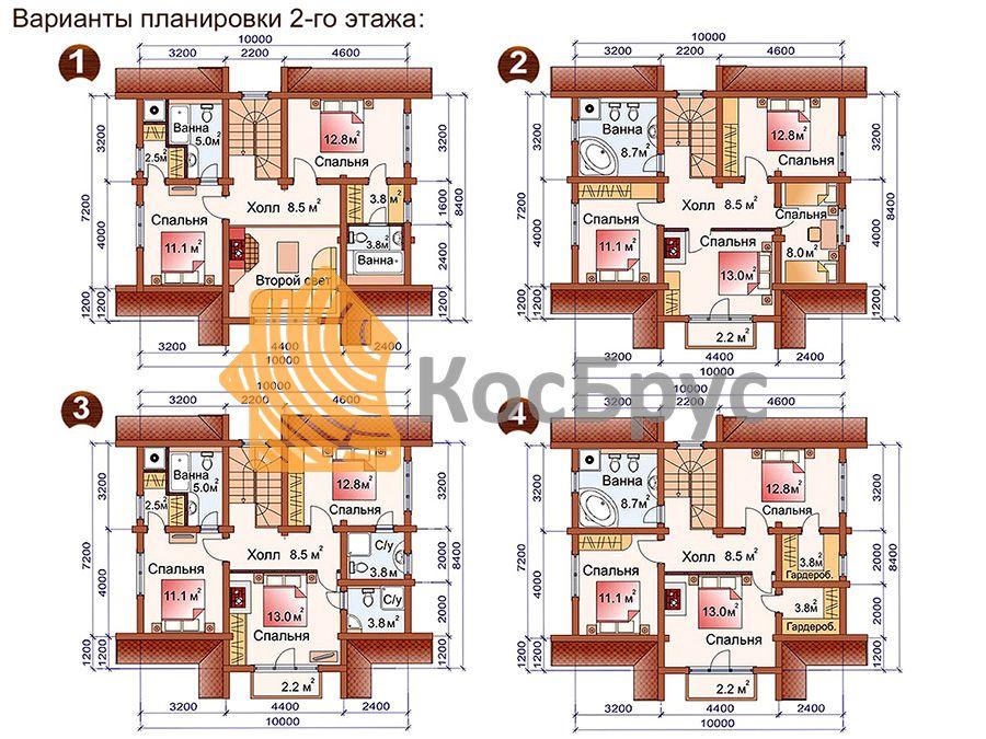 Проект дома с баней 7.2х10.0 1.5 эт 111 м.кв