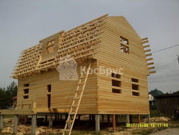 Строительство дома из проф. бруса по проекту «Кузнецк». Тульская обл. п. Заокский, сентябрь 2017 года