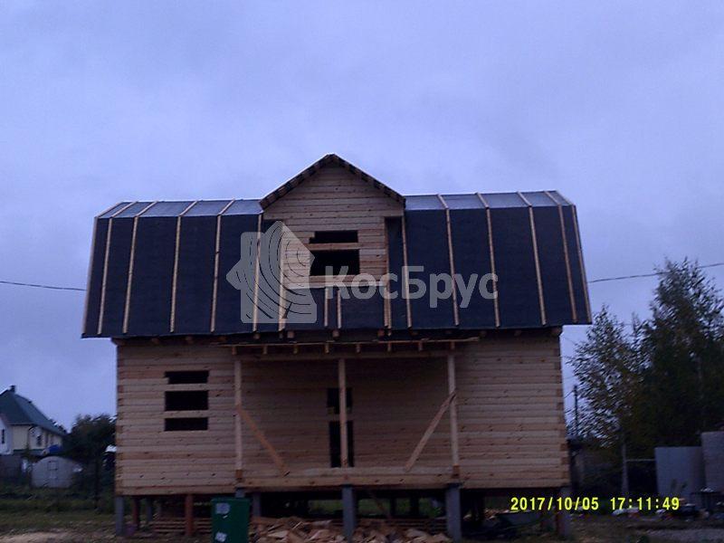 Проект дома из бруса с мансардой 6.0х9.0 м