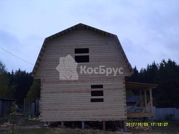 Готовый дом из бруса под усадку