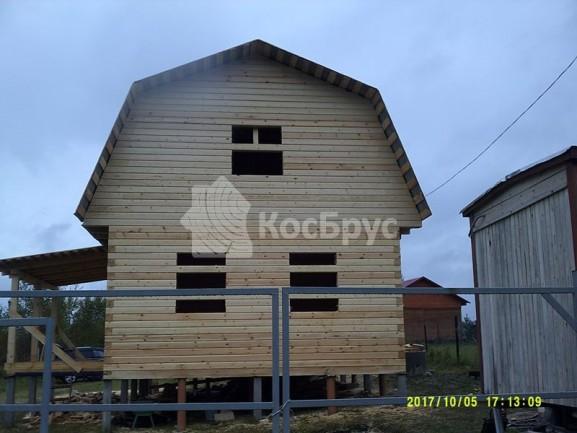 Дом из бруса под рубероид