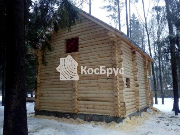Баня-дом из оцилиндрованного бревна 240мм