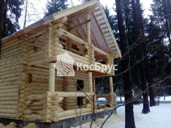 Строительство бани 5.5х7.2м по проекту «Клавдия» со вторым этажом из оцб. 240 мм
