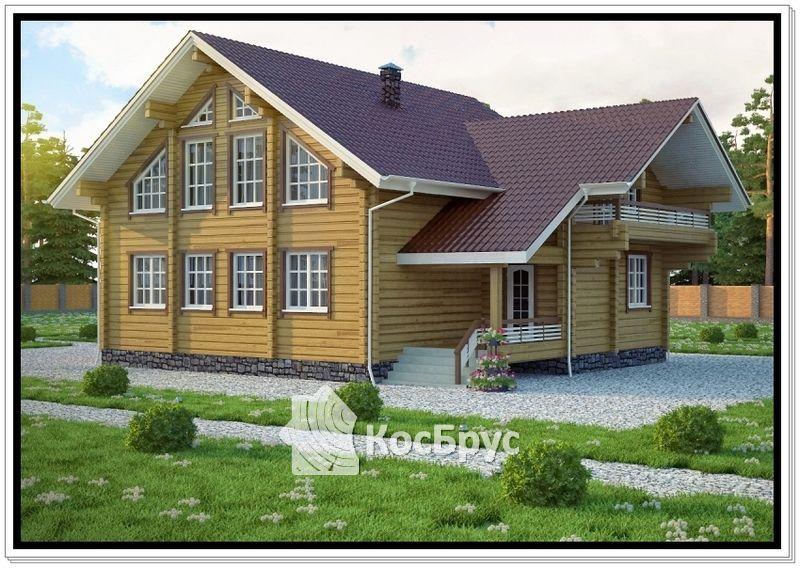 Проект дома из профилированного бруса 10 х 11 м