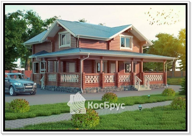 Проект дома из профилированного бруса 11 на 12