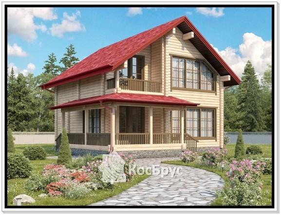 Проект дома из профилированного бруса 10 на 11.5