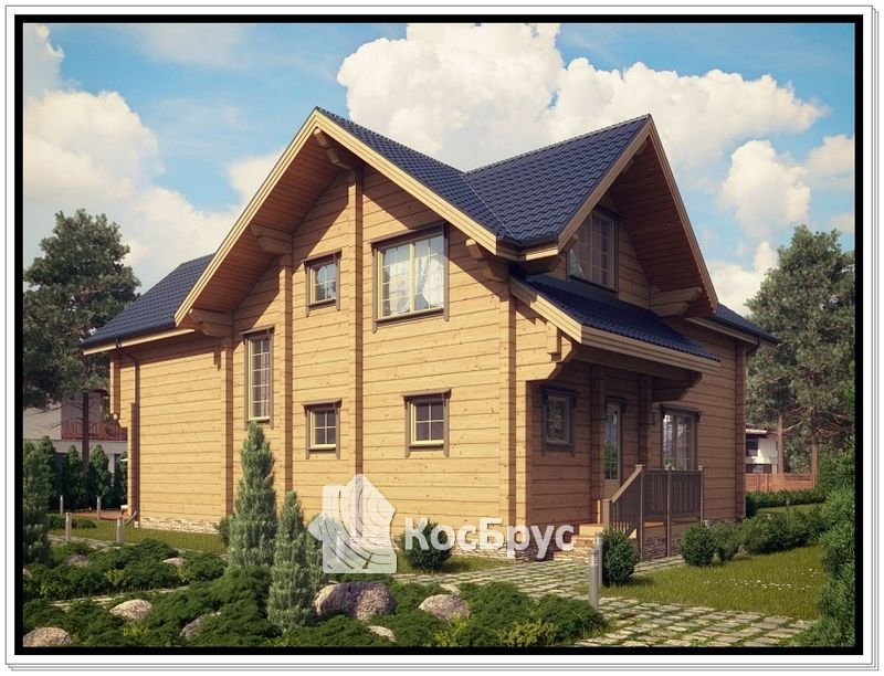 Проект дома из профилированного бруса 10 на 14
