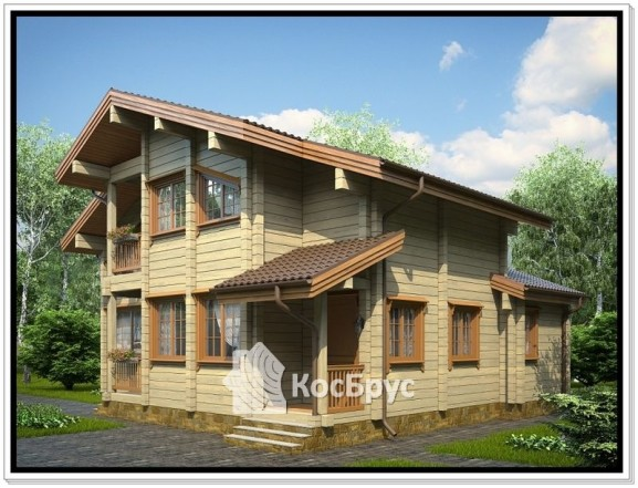 Проект дома из профилированного бруса 10,3 на 11,5