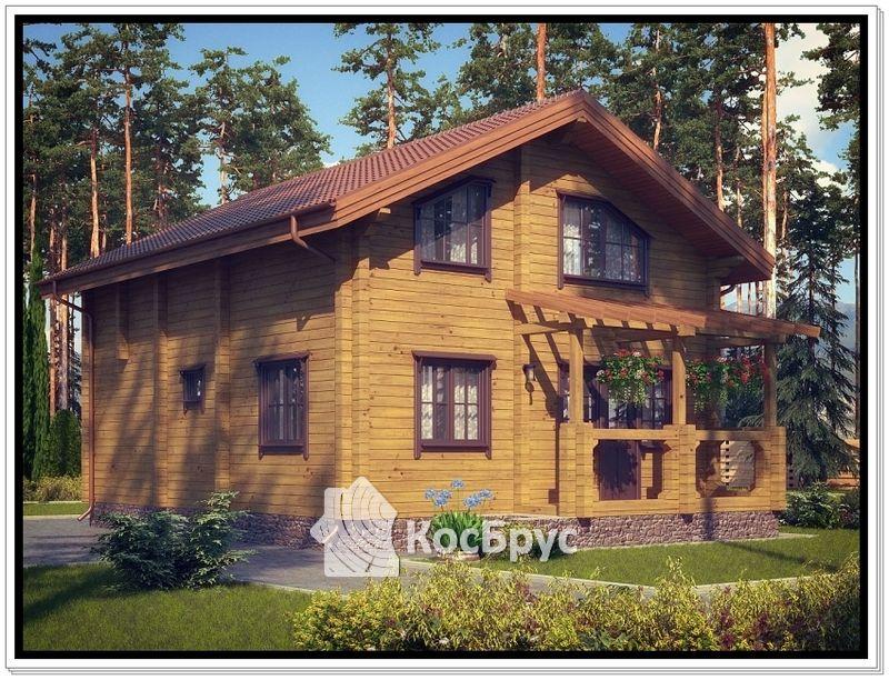 Проект дома из профилированного бруса 9,5 на 12 м