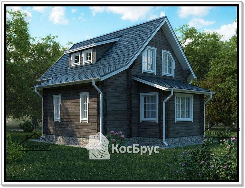 Проект дома из профилированного бруса 8 на 8