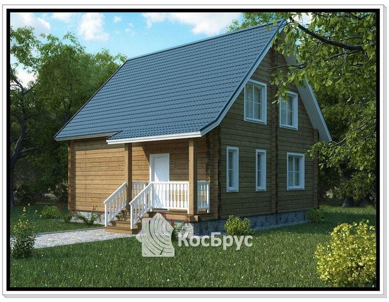 Проект дачного дома из проф бруса
